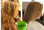 Infore Keratin Treatment Before and After 45